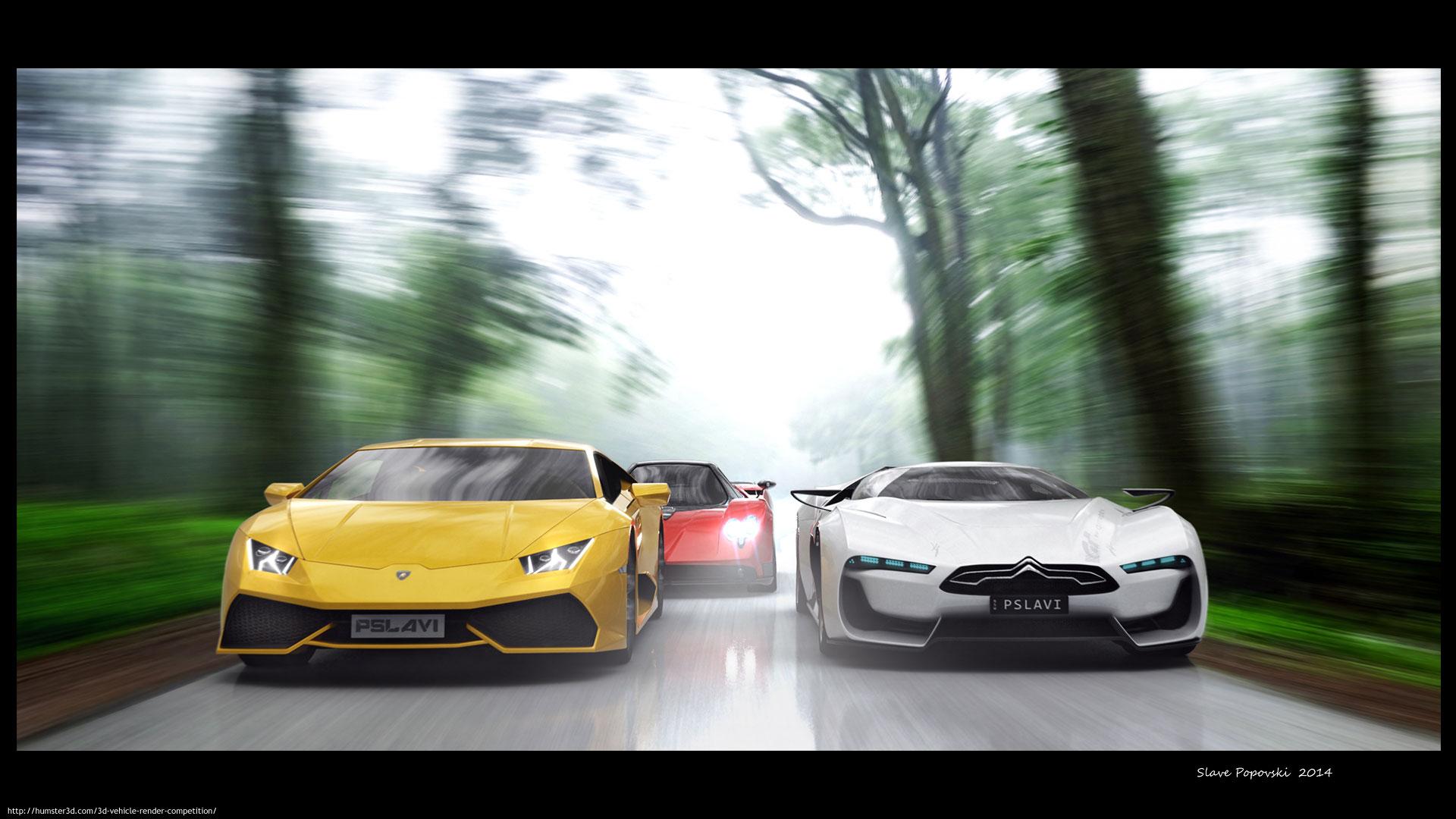 The Race 3d art