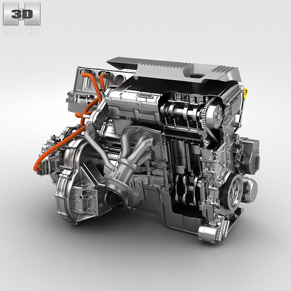 Toyota Hybrid Engine 3d model