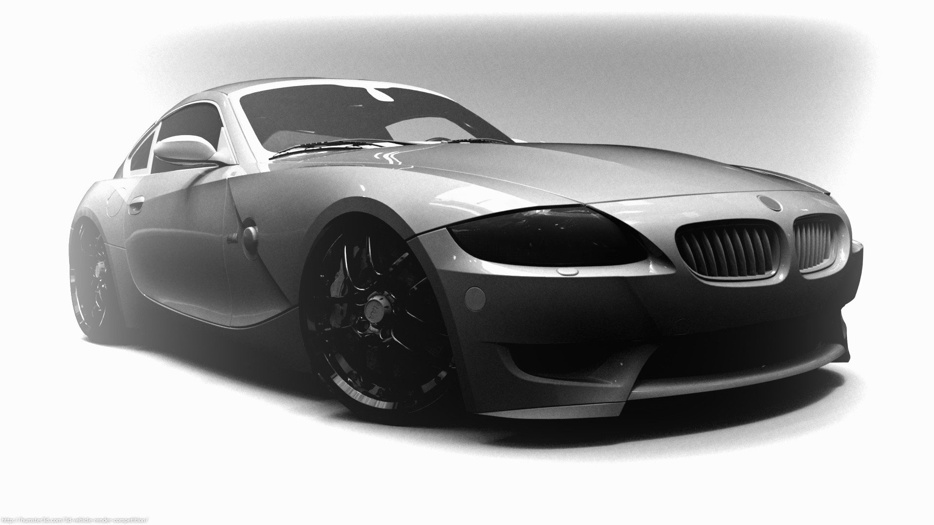 Z4 custom coupe 3d art