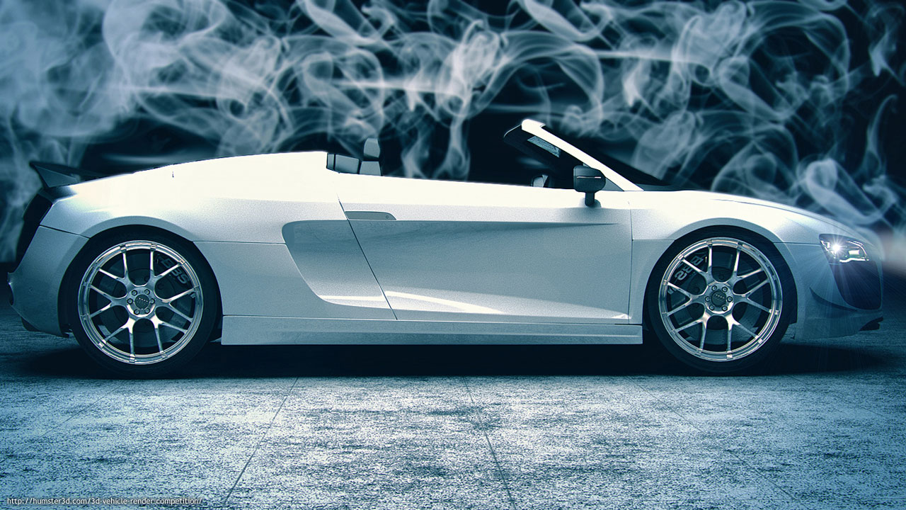 Render of Audi R8 3d art