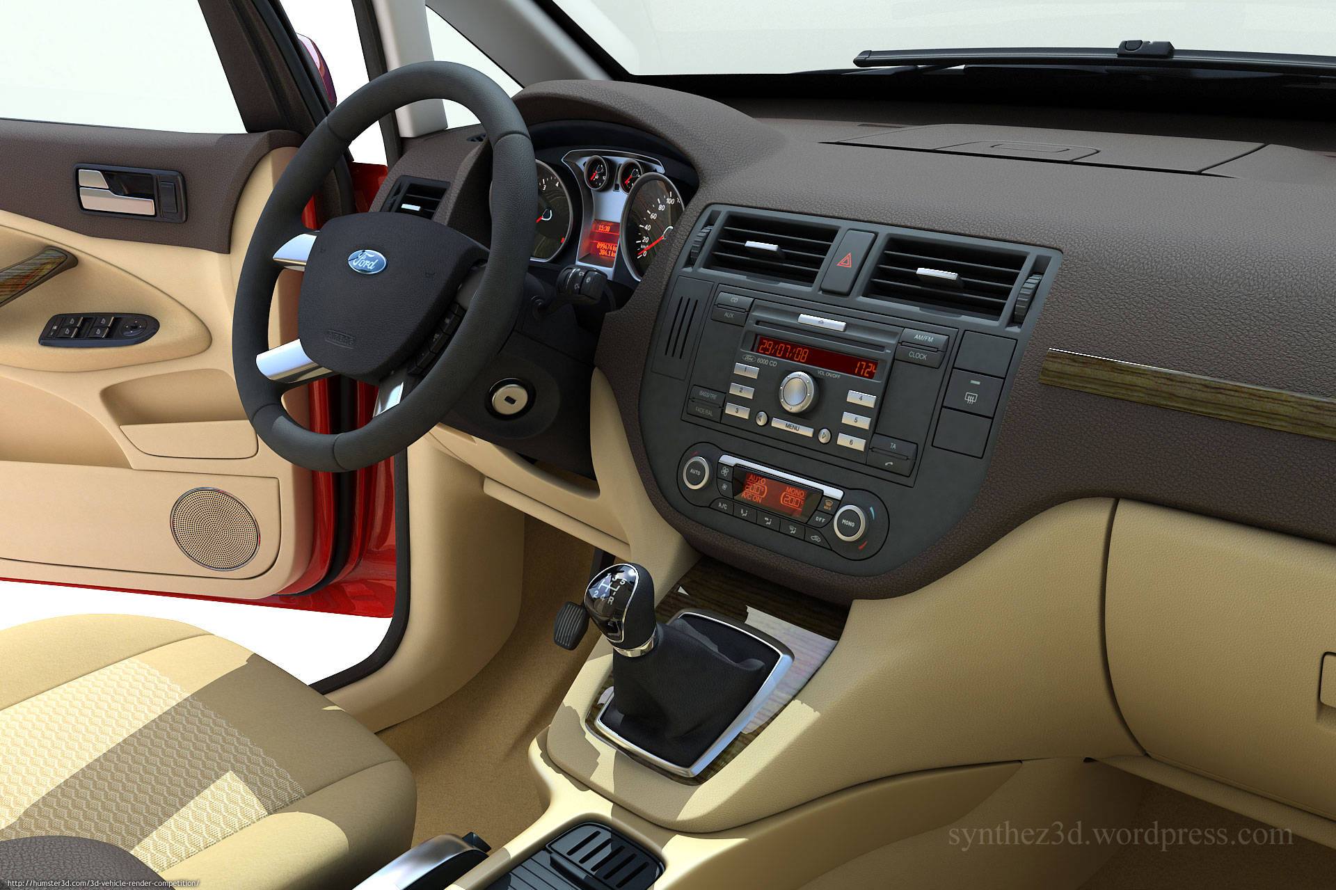 Interior Of Ford C Max George Mileff 3d Vehicle