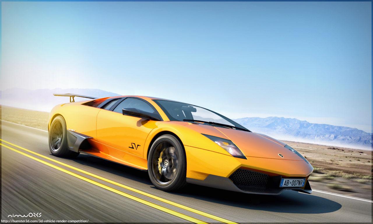 CG rendering of Lamborghini murcielago lp670-4 sv