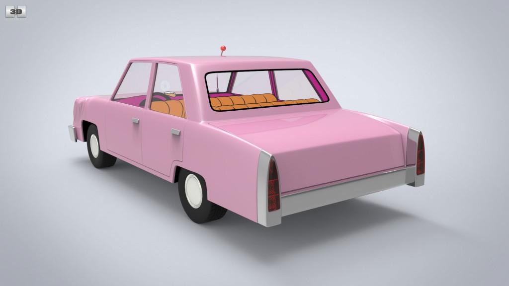 Homer Car: Homer Simpson's Car 3D Model