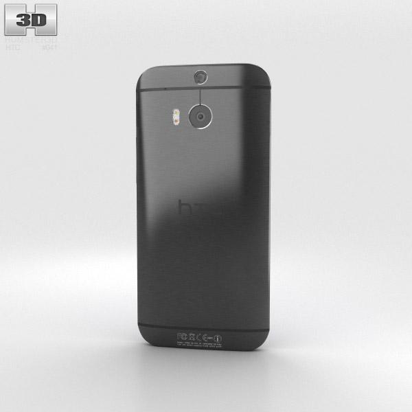 HTC M8 Black 3d model