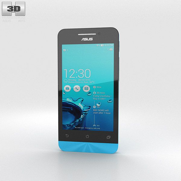 Asus Zenfone 4 Sky Blue 3d model