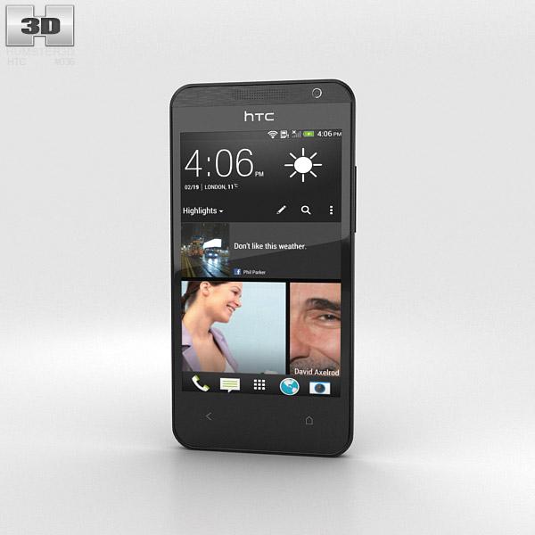 HTC Desire 300 Black 3d model