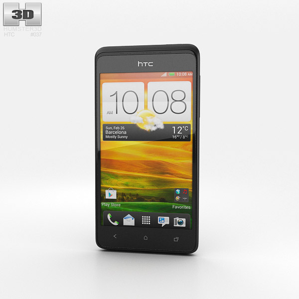 HTC Desire 400 Black 3d model