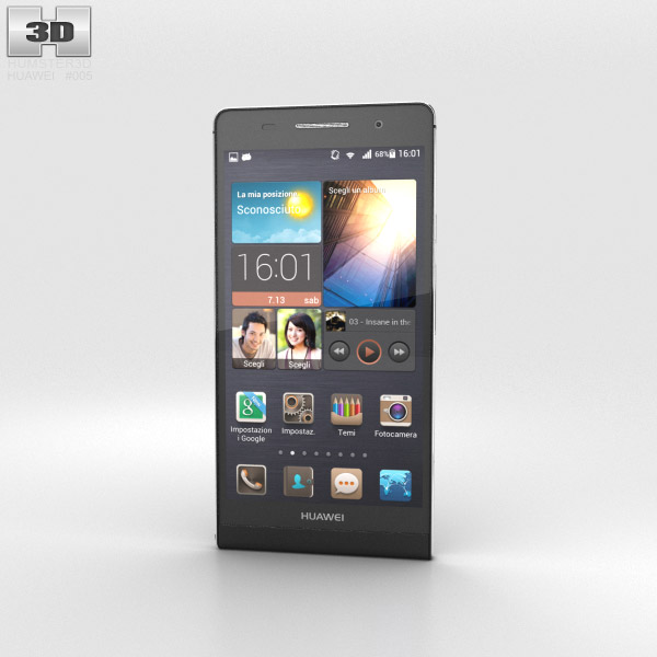 Huawei Ascend P6 S Black 3d model