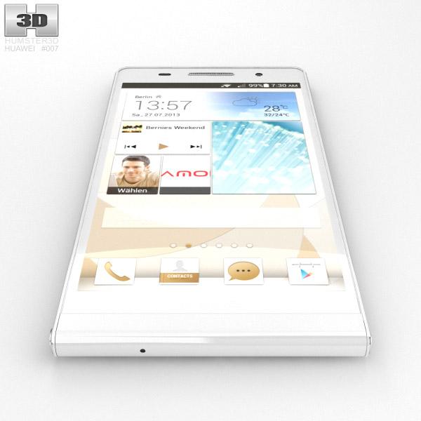Huawei Ascend P6 S White 3D model - Hum3D