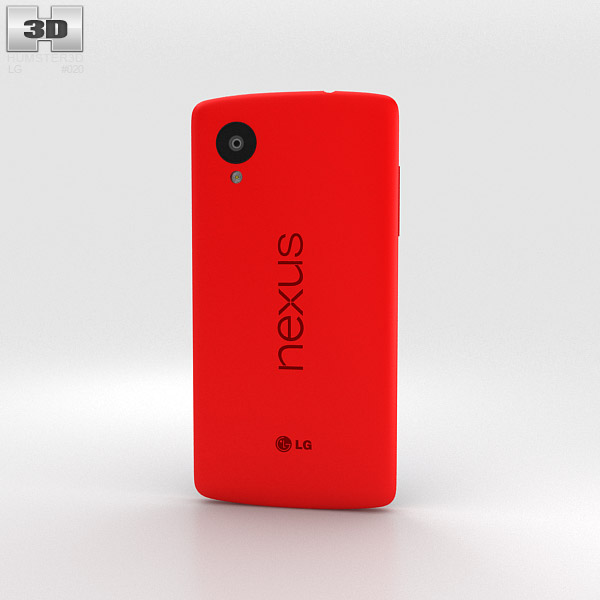 LG Nexus 5 Red 3d model