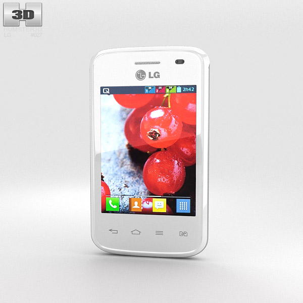 LG Optimus L1 II TRI White 3d model