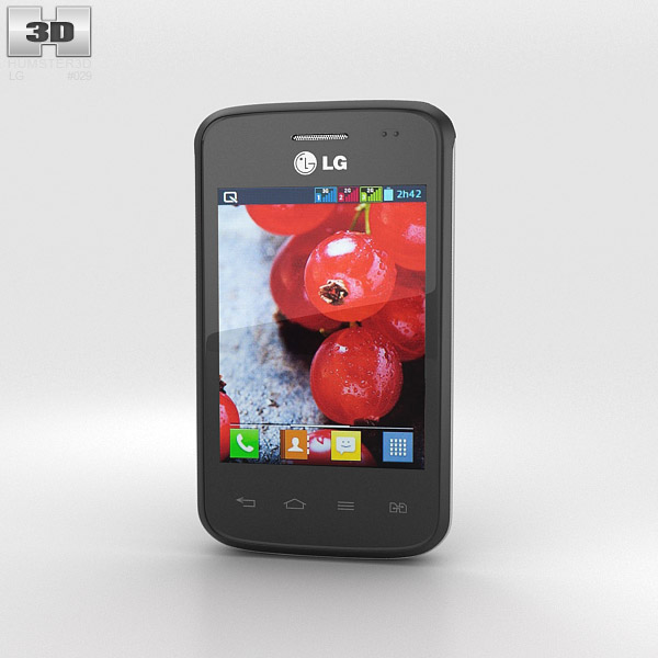 LG Optimus L1 II TRI Black 3d model