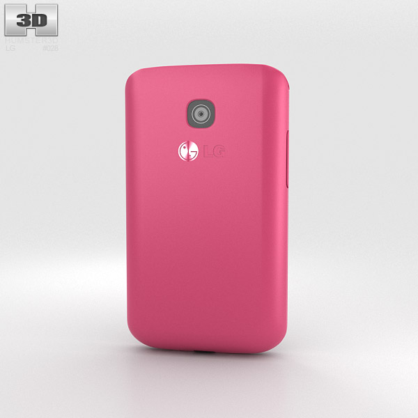 LG Optimus L1 II TRI Pink 3d model