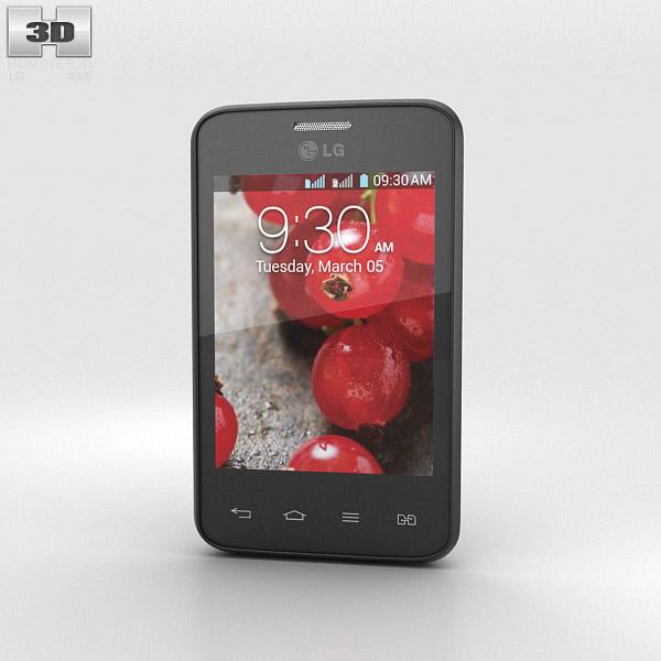 LG Optimus L3 II Dual E435 Black 3d model