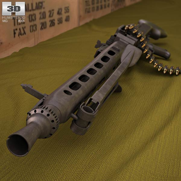 Rheinmetall MG3 3d model