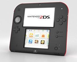 Nintendo 2DS Black + Red 3D model