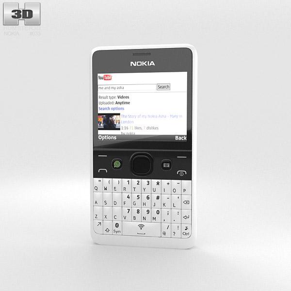 Nokia Asha 210 White 3d model