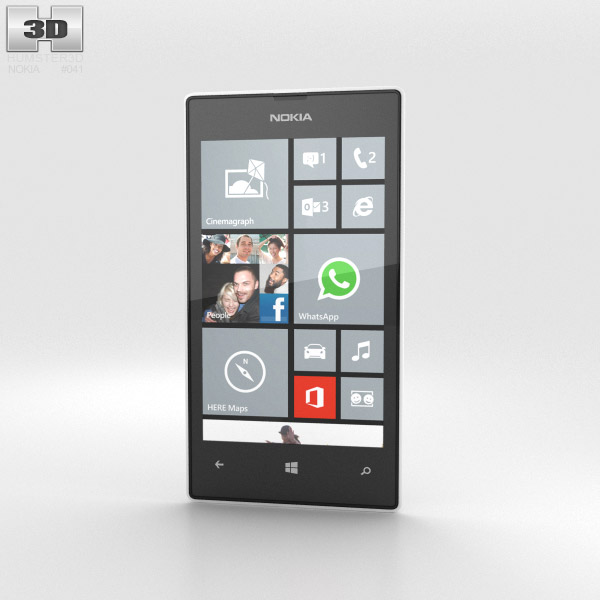 Nokia Lumia 520 White 3d model