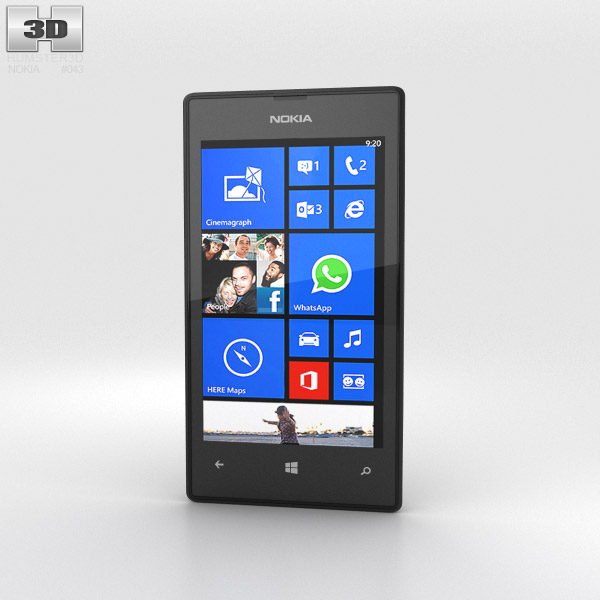 Nokia Lumia 525 Black 3d model