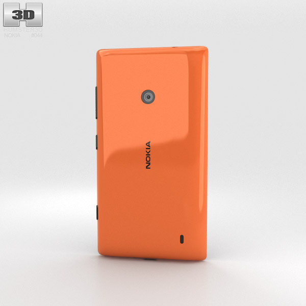 Nokia Lumia 525 Orange 3d model