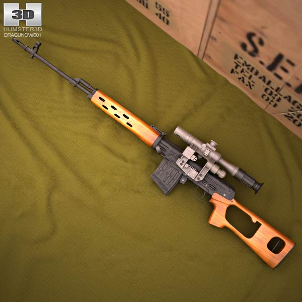 Dragunov Sniper Rifle (SVD) 3d model