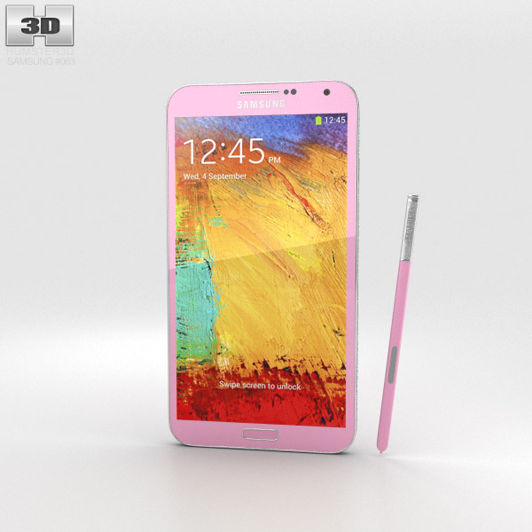Samsung Galaxy Note 3 Pink 3d model