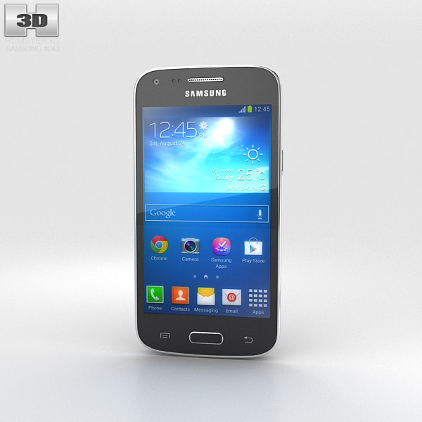 Samsung Galaxy Core Plus Black 3d model