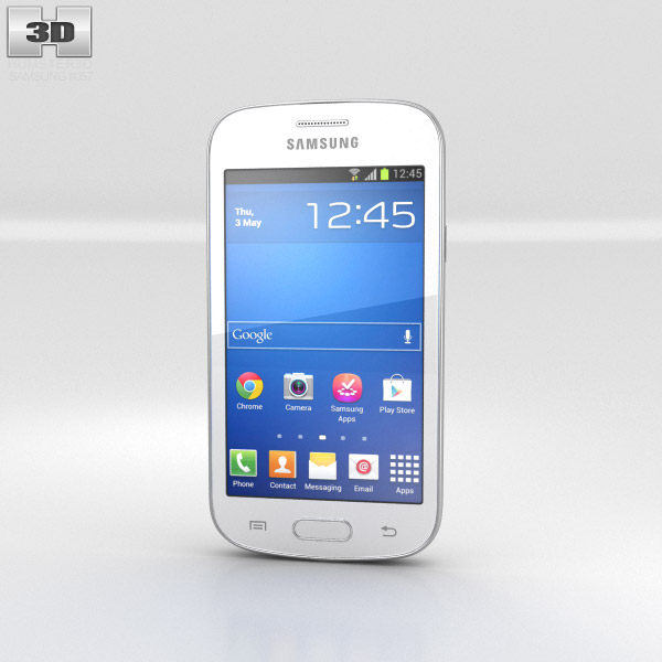 Samsung Galaxy Fresh S7390 White 3d model