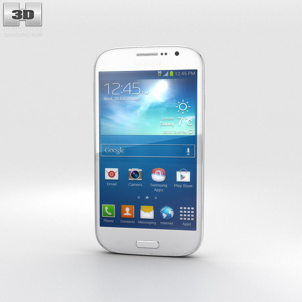 Samsung Galaxy Grand Neo White 3d model
