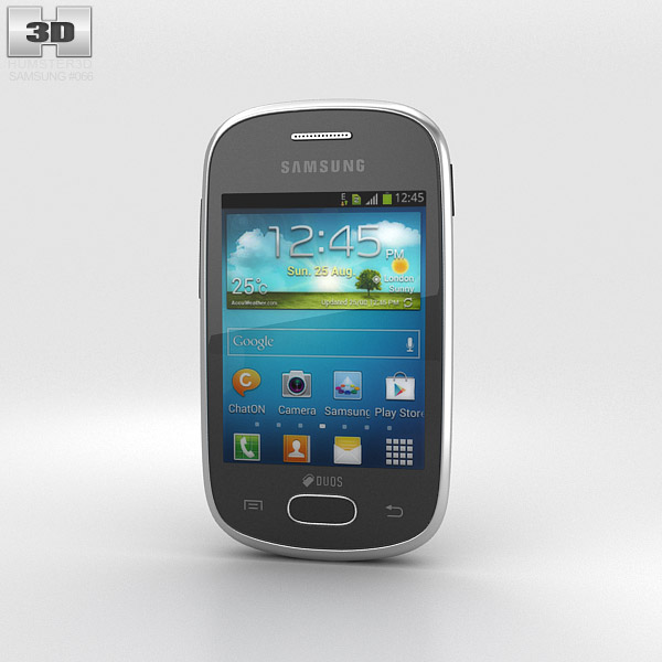 Samsung Galaxy Star Black 3d model