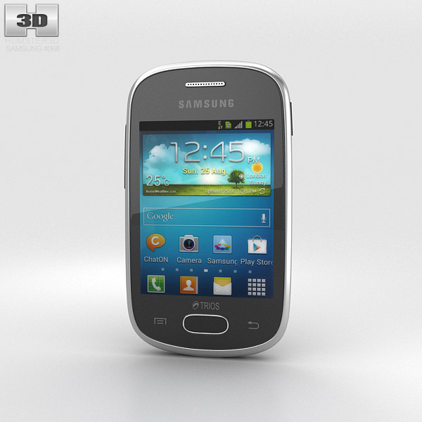 Samsung Galaxy Star Trios Black 3d model