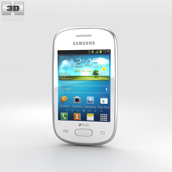 Samsung Galaxy Star White 3d model