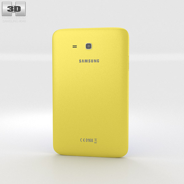 Samsung Galaxy Tab 3 Lite Yellow 3d model