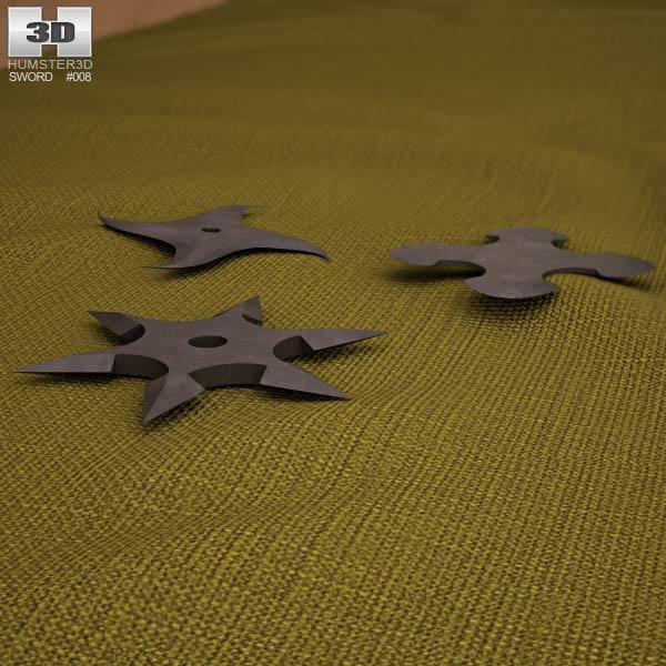 Shurikens 3d model