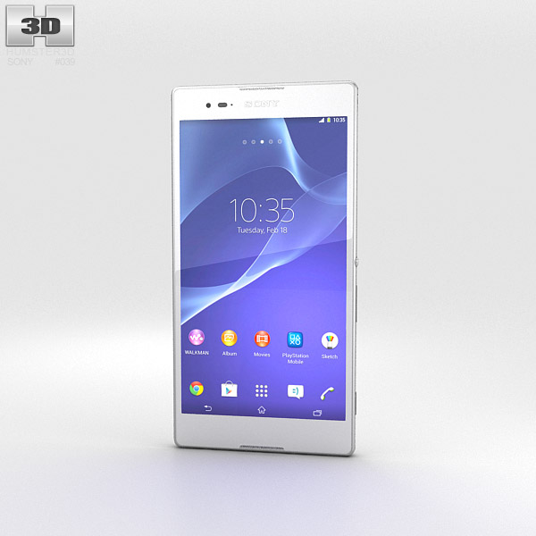 Sony Xperia T2 Ultra White 3d model