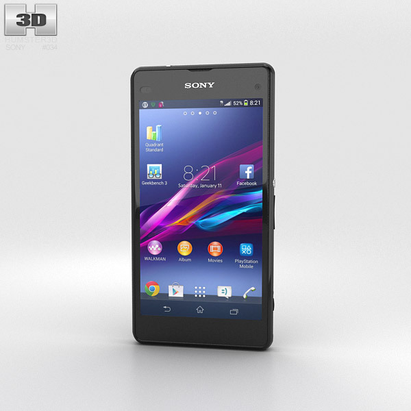 Sony Xperia Z1 Compact Black 3d model