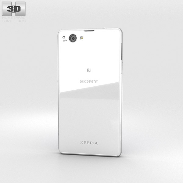 Sony Xperia Z1 Compact White 3d model
