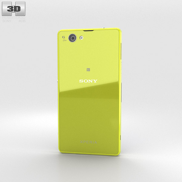 Sony Xperia Z1 Compact Yellow 3d model