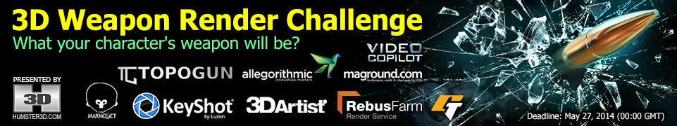 3D Weapon Render Competition for CG Artists