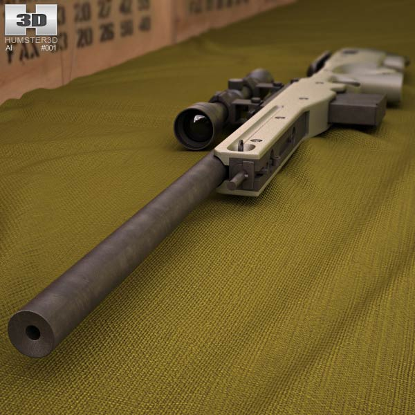 Accuracy International Arctic Warfare (L96A1) 3d model