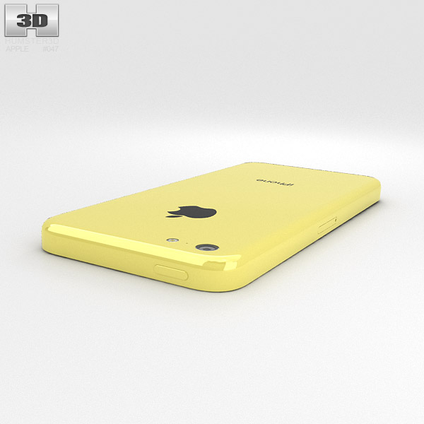 iphone 5c yellow apple iphone 5c yellow 3d model hum3d 11151