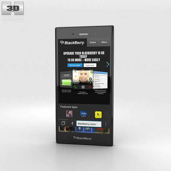 BlackBerry Z3 Black 3d model