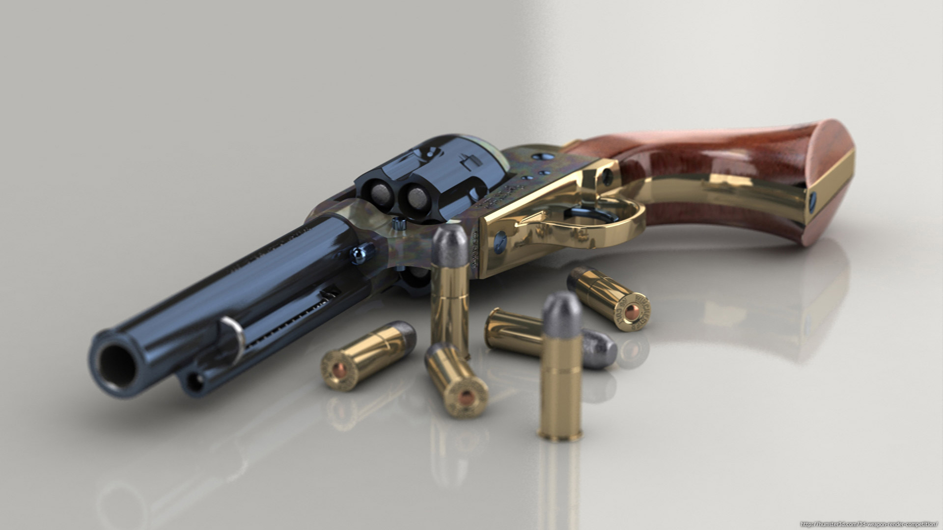 Colt SAA .45 3d art