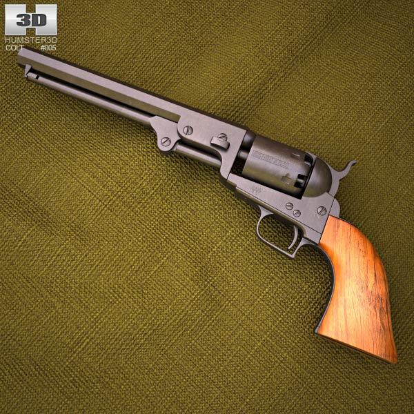 Colt 1851 Navy Revolver 3d model