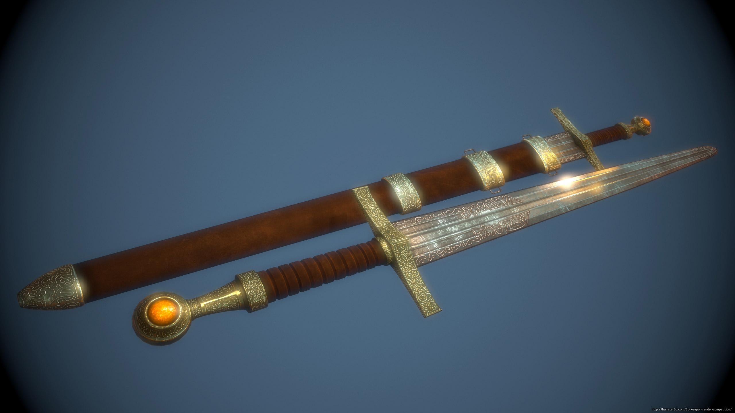 Fantasy Sword 3d art