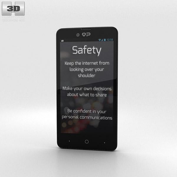 GeeksPhone Blackphone White 3d model