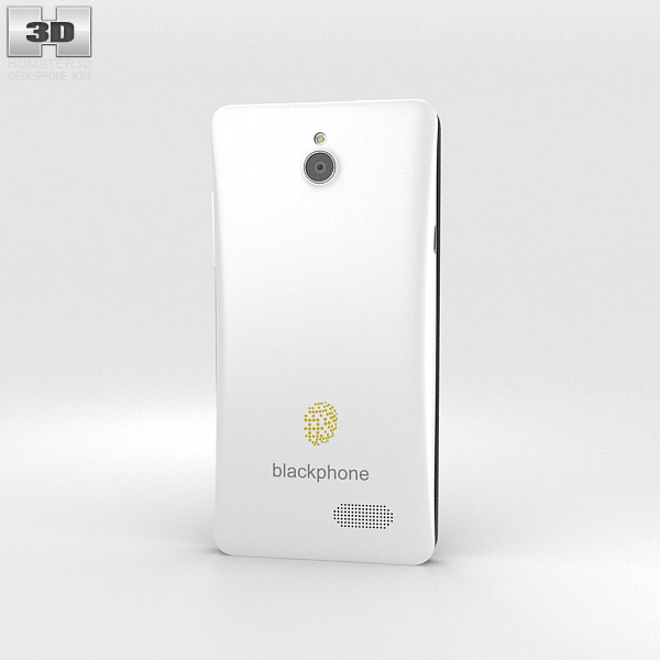 GeeksPhone Blackphone White 3d model