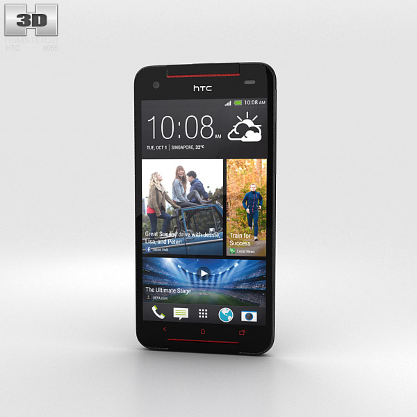 HTC Butterfly S Black 3d model