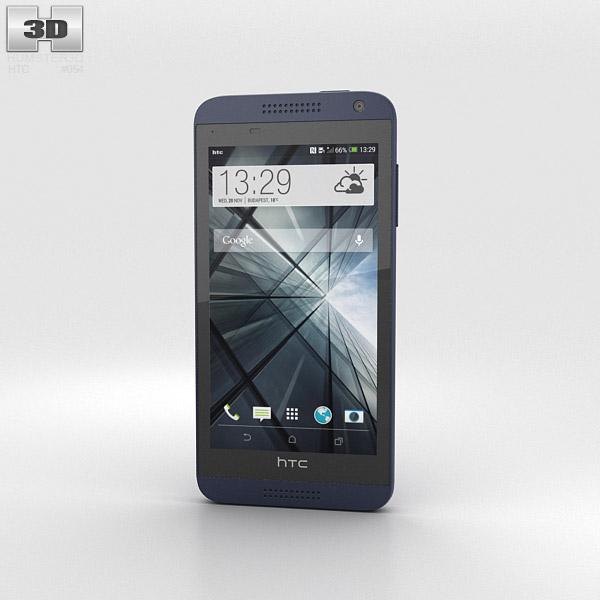 HTC Desire 610 Blue 3d model