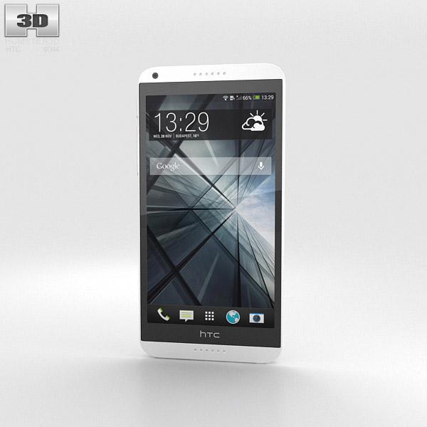 HTC Desire 816 White 3d model